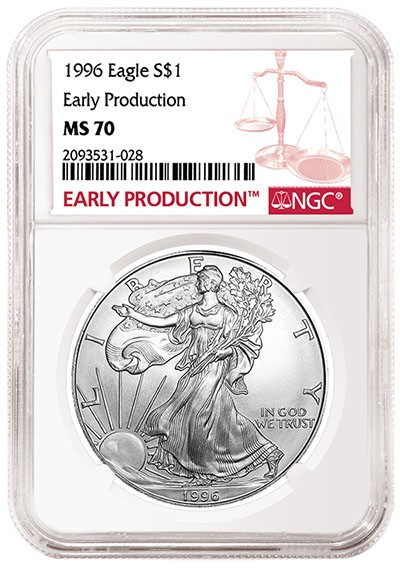 ngc early production eagle americano 1996