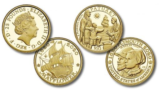 Monedas-de-oro-US-and-UK-400th-Anniversary-of-the-Mayflower-Voyage