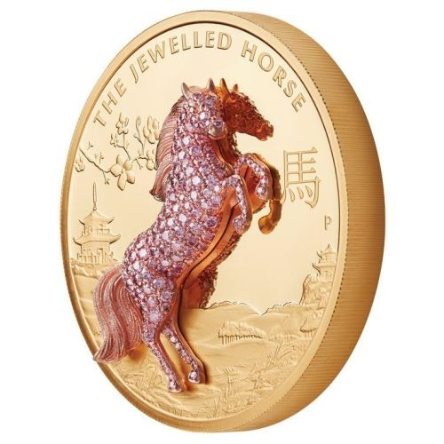 The-Jewelled-Horse-10oz-oro-Proof-caballo-enjoyado